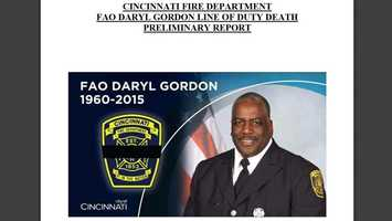 September 11 - Cincinnati Fire Deaprtment FAO Daryl Gordon line of duty death preliminary report is released. Click here to view full report