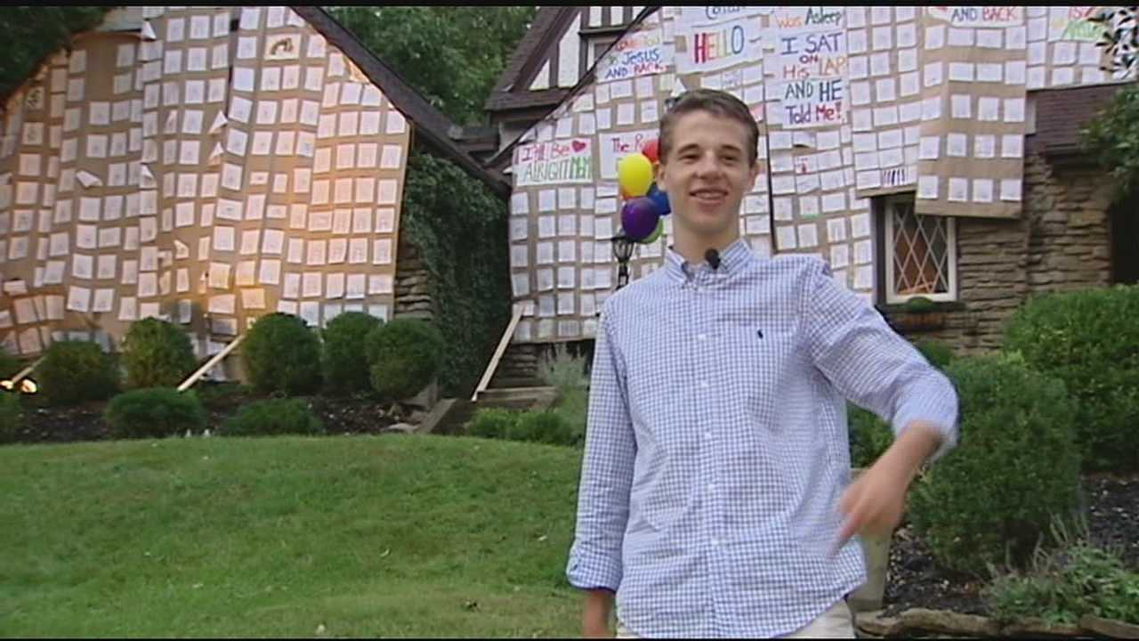 Hyde Park teen shares positive messages with rainbow display on home