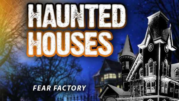 Fear Factory - 7 S. Eastern Avenue, Batesville, Indiana 47006Dates for 2015: Sept. 25, 26, Oct. 2, 3, 9, 10, 18 (1 p.m. to 3 p.m.), 23, 24, 30, 31Hours: 7 p.m. to 10 p.m.Admission price: $10http://www.fearfactorybatesville.com