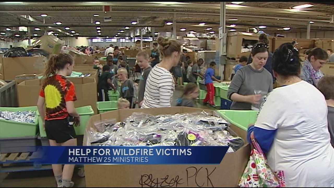 Parts of California have been devastated by wildfires in the past week, but relief from Greater Cincinnati is coming.Matthew 25 Ministries has a truckload of supplies headed west from its warehouse in Blue Ash.
