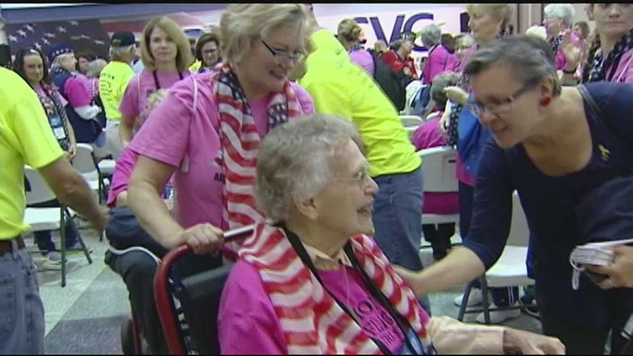 Hundreds of veterans and their loved ones traveled to Northern Kentucky this morning for the first ever Women's Honor Flight in the nation.