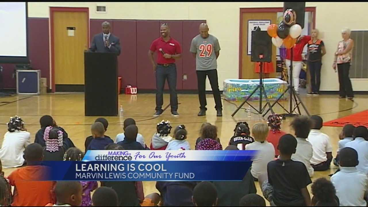Students at Ethel Taylor Academy were visited by some special people Tuesday as part of the Learning is Cool program.