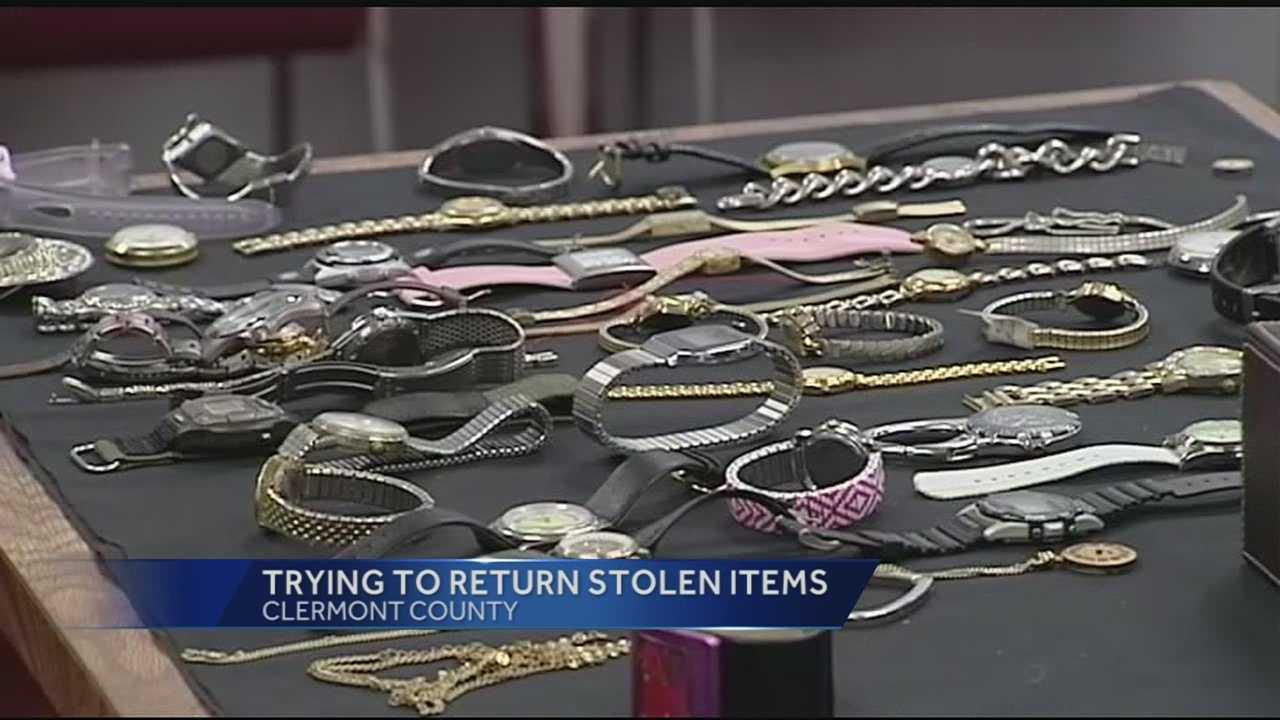 Detectives said only a small amount of items remain from the tens of thousands of dollars worth of items stolen.