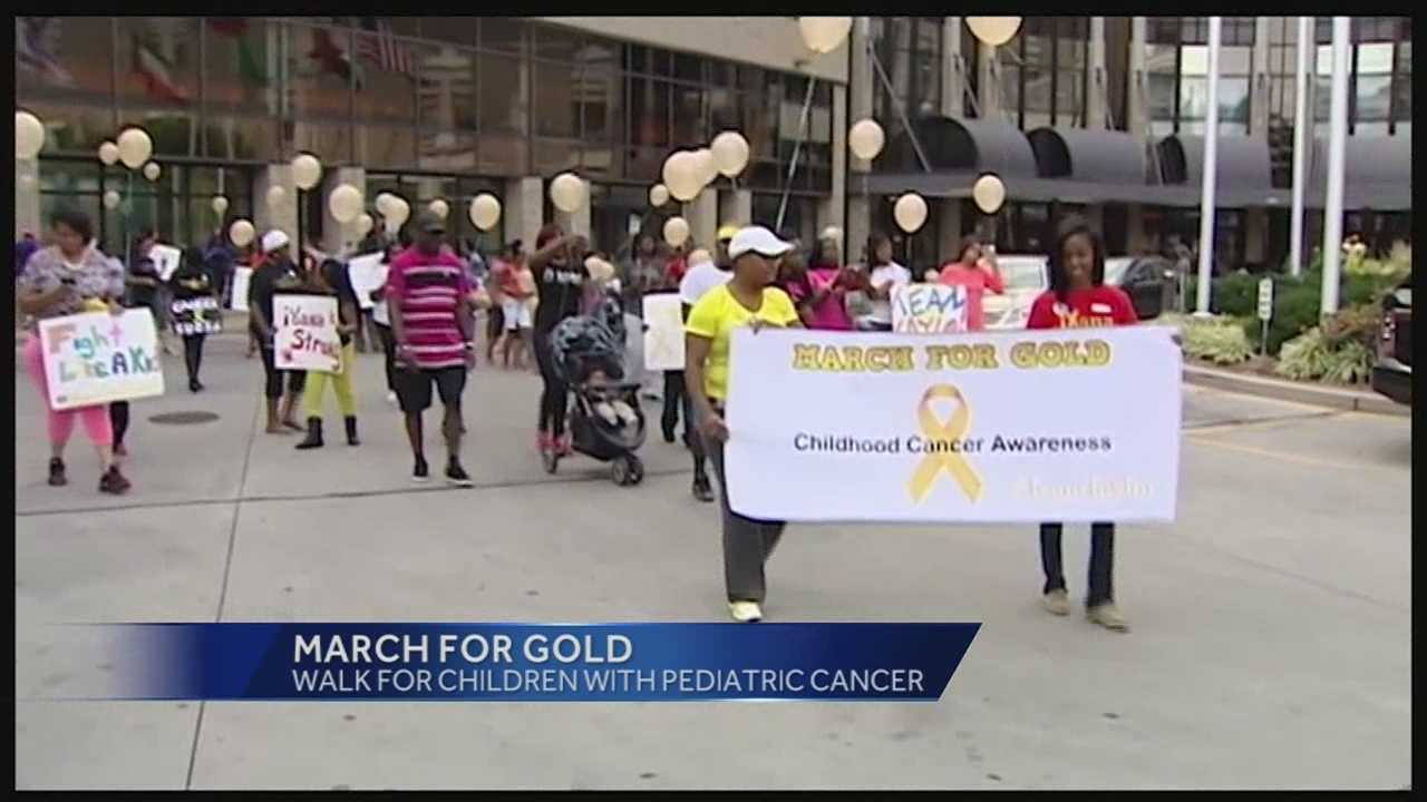 March for Gold shines light on childhood cancer awareness