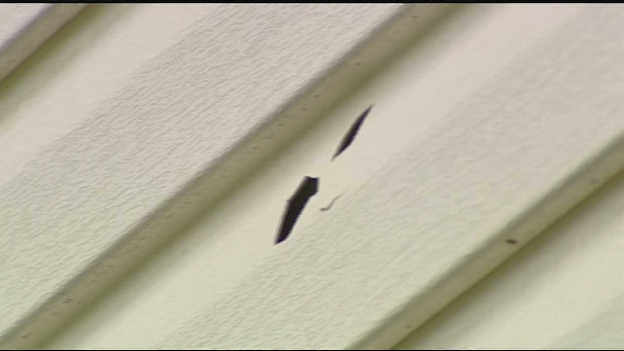 The bullet went into her house, through her bedroom window and hit the frame of the bed she was laying in. The woman said she fears someone may get hurt or killed.