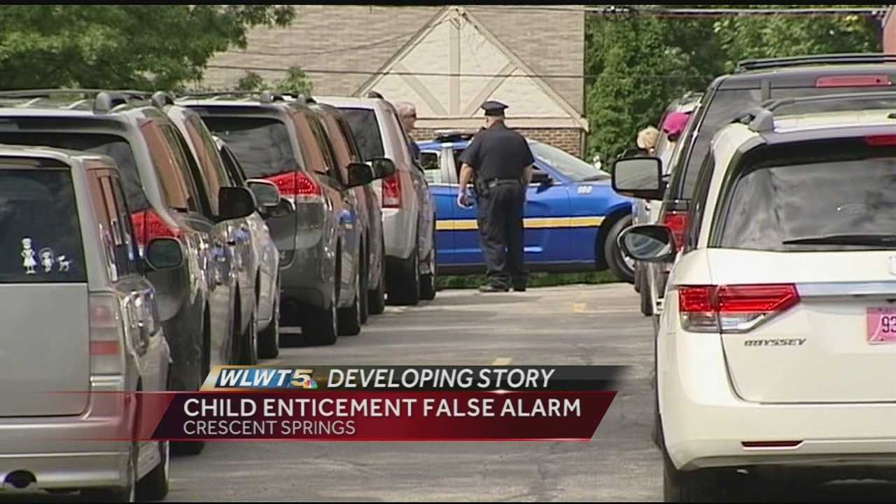 Police said the original report was that while the children were leaving the school to go meet parents in the car line, a woman inside a vehicle attempted to entice a student into the vehicle.