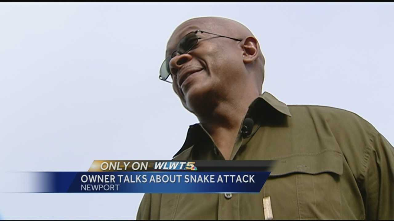 Wilkins said the attack wasn't as bad as it looks, saying the snake thought his arm was prey as he cleaned out his cage.