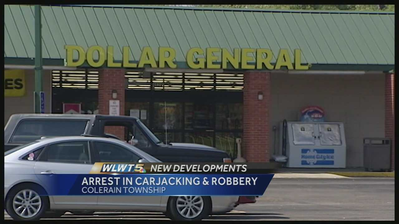 A woman robbing a Dollar General store allegedly claimed to have a gun and threatened to shoot a customer before stealing a vehicle and leading police on a chase.