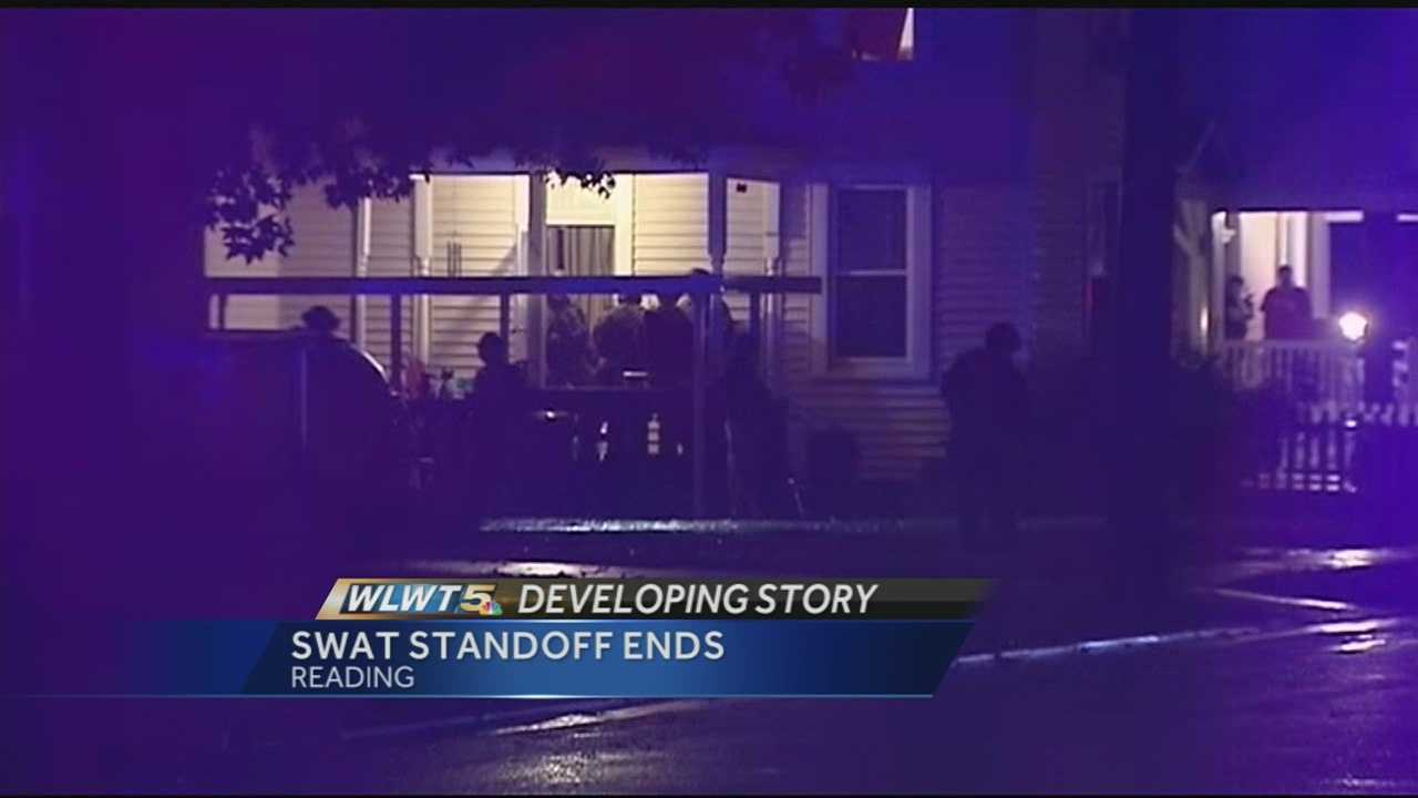Several streets were shut down tonight after the SWAT team was called to a home in Reading. The suspect claimed to have a gun. Police say 23-year-old Thomas Ross was threatening to commit suicide.