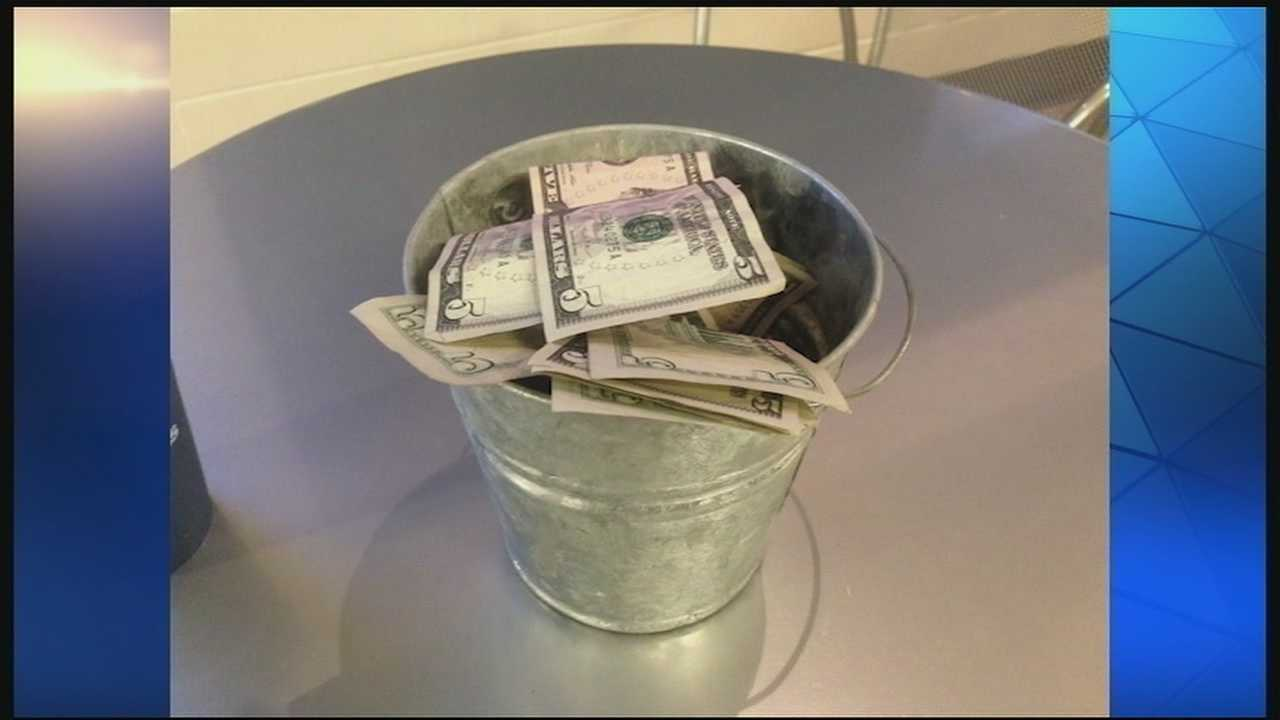 After taking up a collection, the pastor turned around and gave members some of the money back.