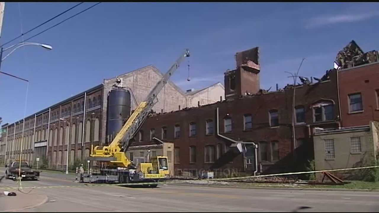 The tower at Beckett Paper Mill has been one of Hamilton Fire Department's greatest concerns since part of the mill was destroyed Halloween night in a fire.