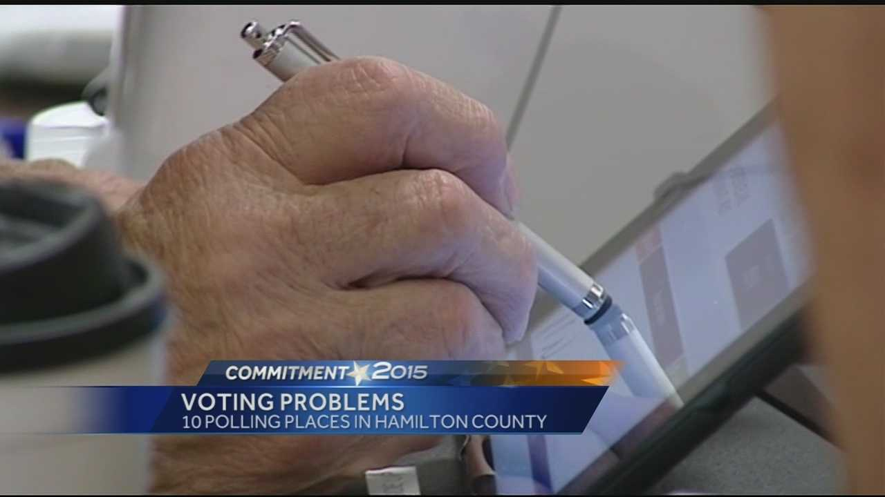 Some voters were delayed in casting their ballots Tuesday after problems involving the process of checking in to vote.