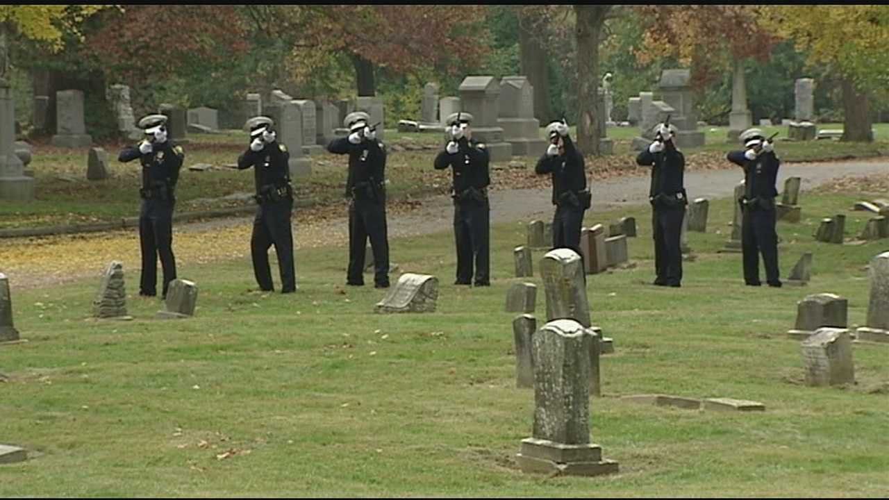 The officers were honored Wednesday during a special ceremony thanks to the hard work of people at the police museum and Vine Street Hill Cemetery.