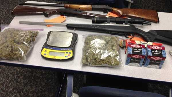 Covington police seized several items while serving one of the search warrants.