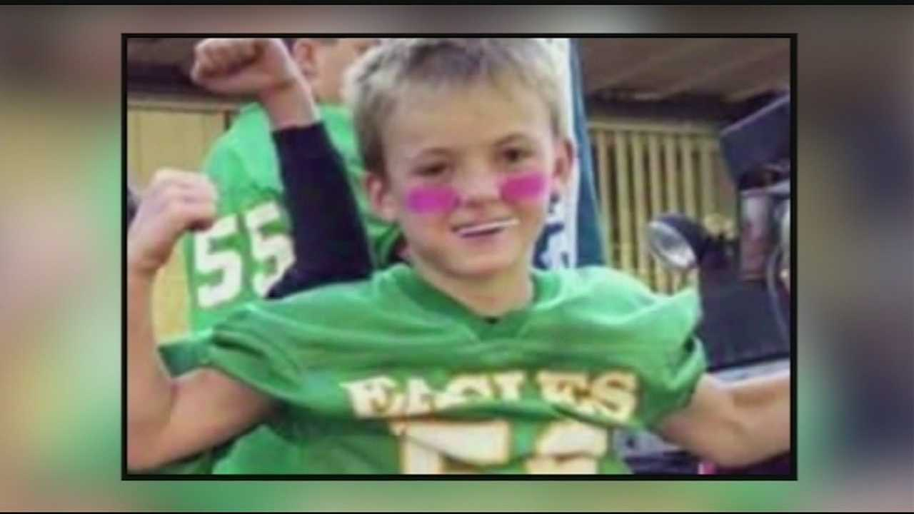 The Meigs County Sheriff said Wyatt Barber collapsed after his youth football practice.