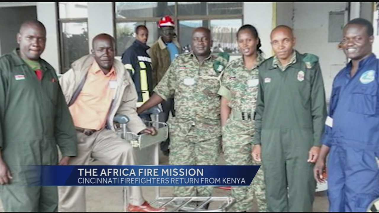 Africa Fire Mission is a non-profit that started in Cincinnati, four years ago. Two Cincinnati firefighters just returned home after spending two weeks in Africa, training and educating citizens there through the mission.