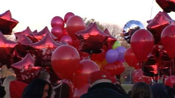 Hundreds of balloons were released Saturday afternoon in memory of Kinsley Kinner.