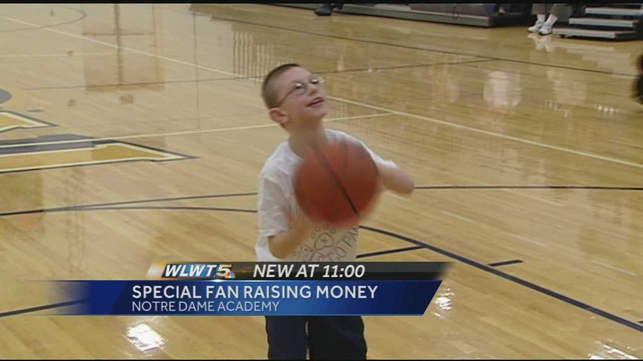 A 9-year-old boy shot 60 percent from the free throw line and raising money at the same time.