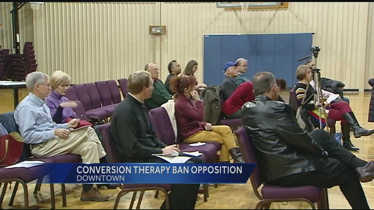 The group Citizens for Community Values held a news conference Friday asking for Cincinnati City Council to repeal the recent ban on conversion therapy for minors.