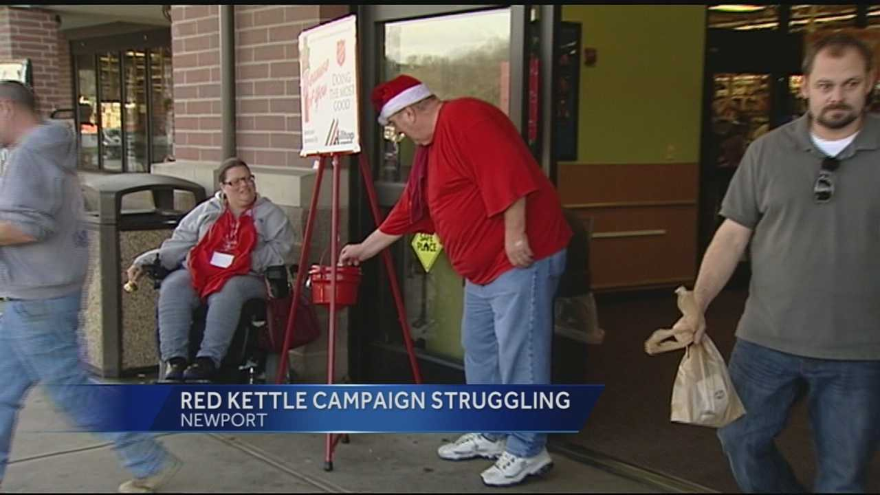 The Salvation Army is asking for help to meet this season's goal.