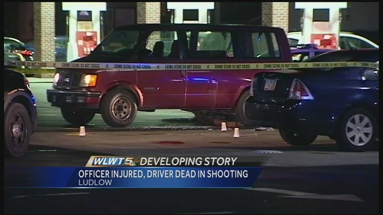 A man is dead and an officer hospitalized after a shootout late Tuesday in Ludlow.