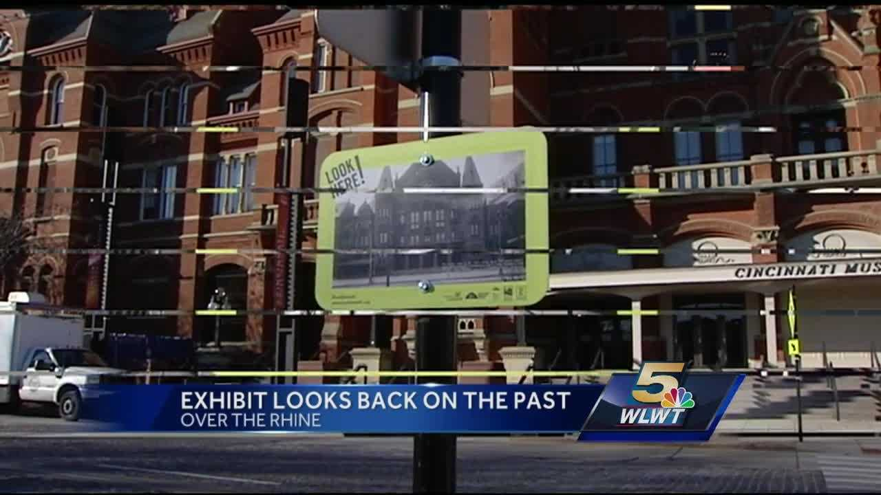 An exhibit featuring photographs on the streets of one of the nation's most historic districts is giving viewers a way to peer into the past.