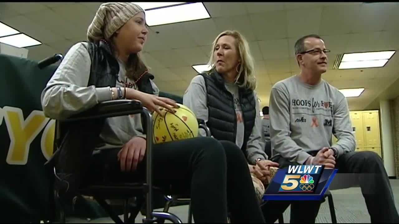 Sycamore High School hosts event to support teacher's daughter fighting brain cancer.