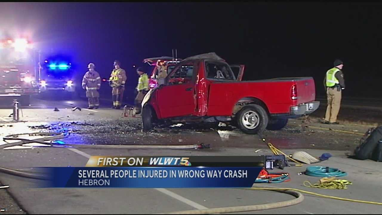 Drivers hurt in four-vehicle crash in Hebron
