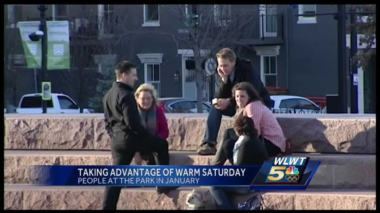 Cincinnati residents took full advantage of warm weather Saturday afternoon.