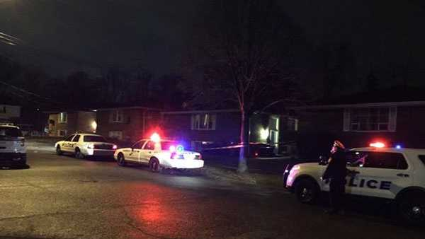 The shooting happened around 10:15 p.m. in the 7800 block of Glen Orchard Drive.