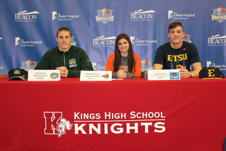 Jared Dorsa – Football, Ohio University&#x3B; Maddie Vossen – Soccer, Tusculum College&#x3B; Blake Bockrath – Football, East Tennessee State University