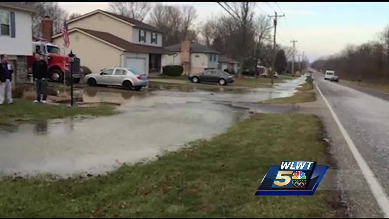A Butler County family continues to clean up after a water main break flooded their Liberty Township home nearly a week ago.