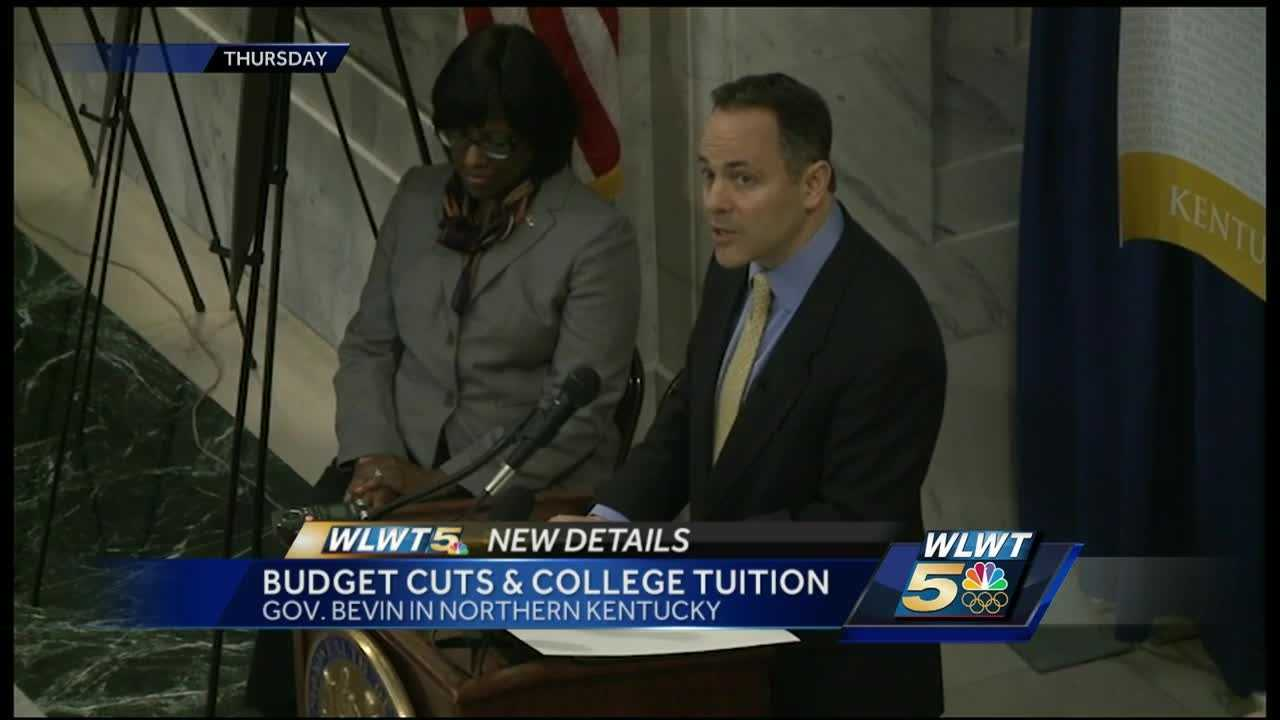 Gov. Matt Bevin says cuts have to come from somewhere.