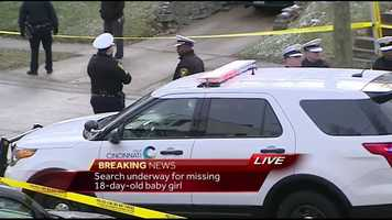 Police responded to a report of a baby who went missing from a stolen car March 3.
