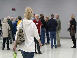 Heavy voter turnout also created major traffic backups on roads heading toward the caucus sites.