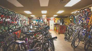 "Address: 7560 Burlington Pike, Florence, KY 41042Website: velocitybb.comMost popular drink?""Hmmm - it's probably a tie between our Nutella Mocha and our Lavender Mocha!""What's with the bikes?""Bikes & coffee have a long history together, especially in Europe, and we wanted to bring that to the Midwest."""