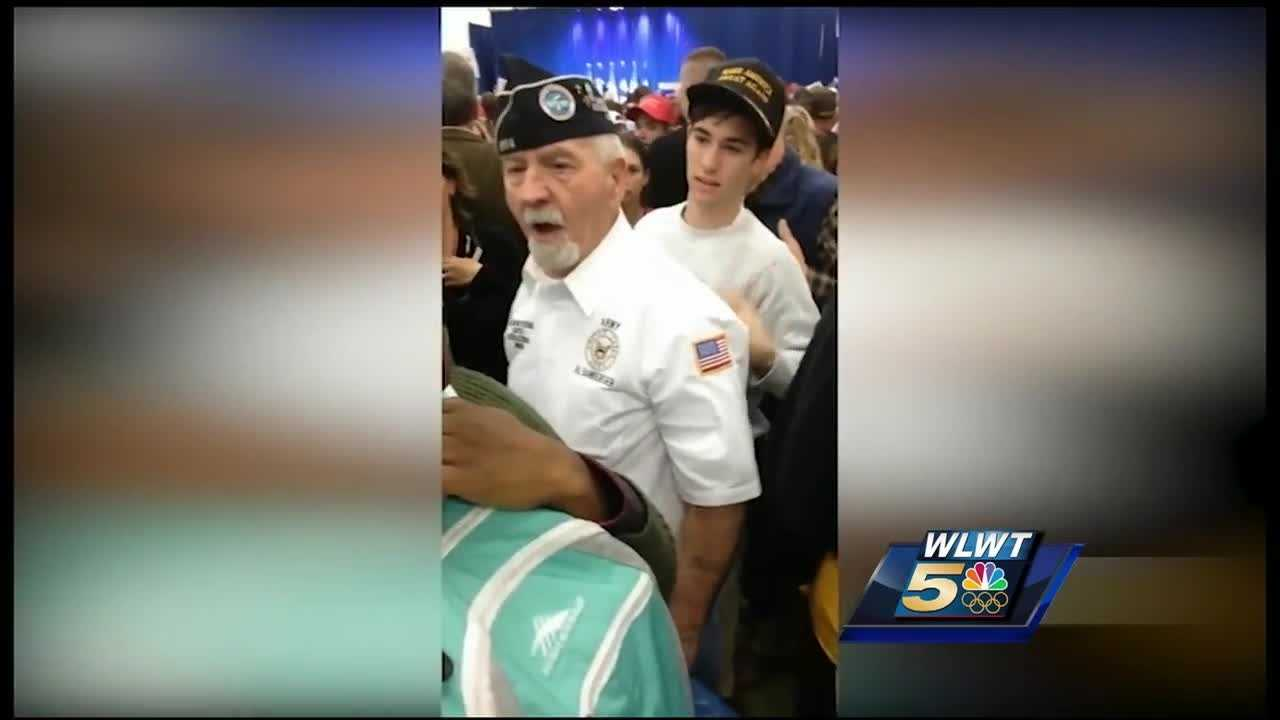 A local Korean War Veterans organization remains on the front lines of a controversy even after one of their members apologized for what he did during a Donald Trump rally.