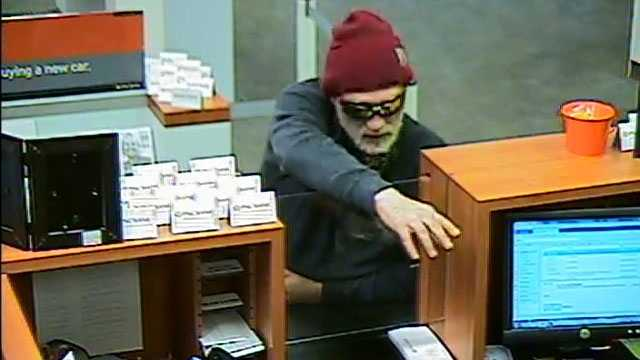 Police are searching for a person who robbed the PNC Bank in Bellevue Thursday.