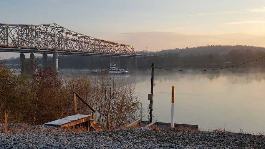 A car that went off the Combs-Hehl Bridge into the Ohio River was recovered 11 days later on March 26, 2016.