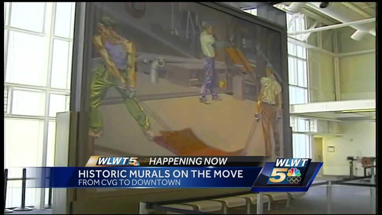 Historic murals moving from CVG to Duke Energy Center