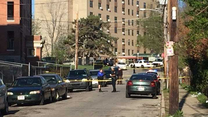Shooting at 615 Maple Avenue in Cincinnati, Ohio April 2, 2016.