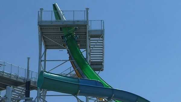 Tropical Plunge is still under construction, set to Open Memorial Day weekend.