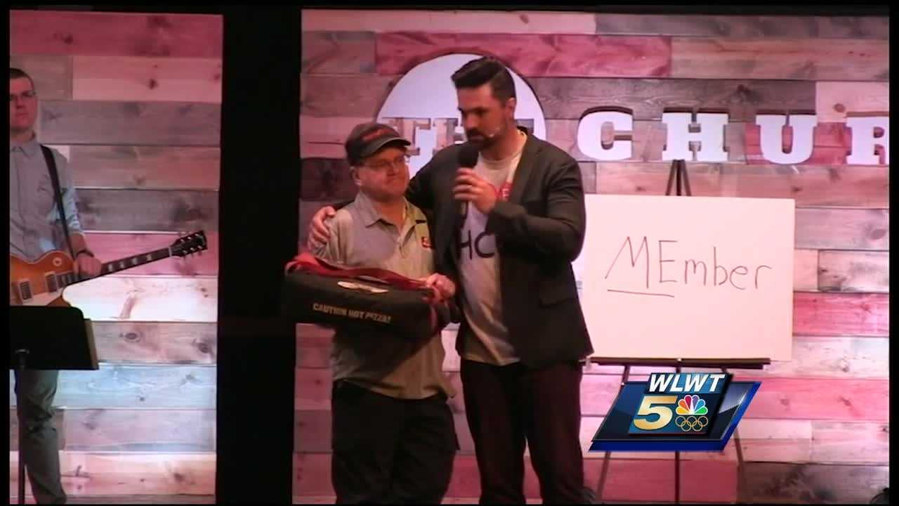 Sharp was expecting to receive a tip for a few bucks for making the delivery to Hamilton Christian Center. Instead, he walked out with a check for $3,000.