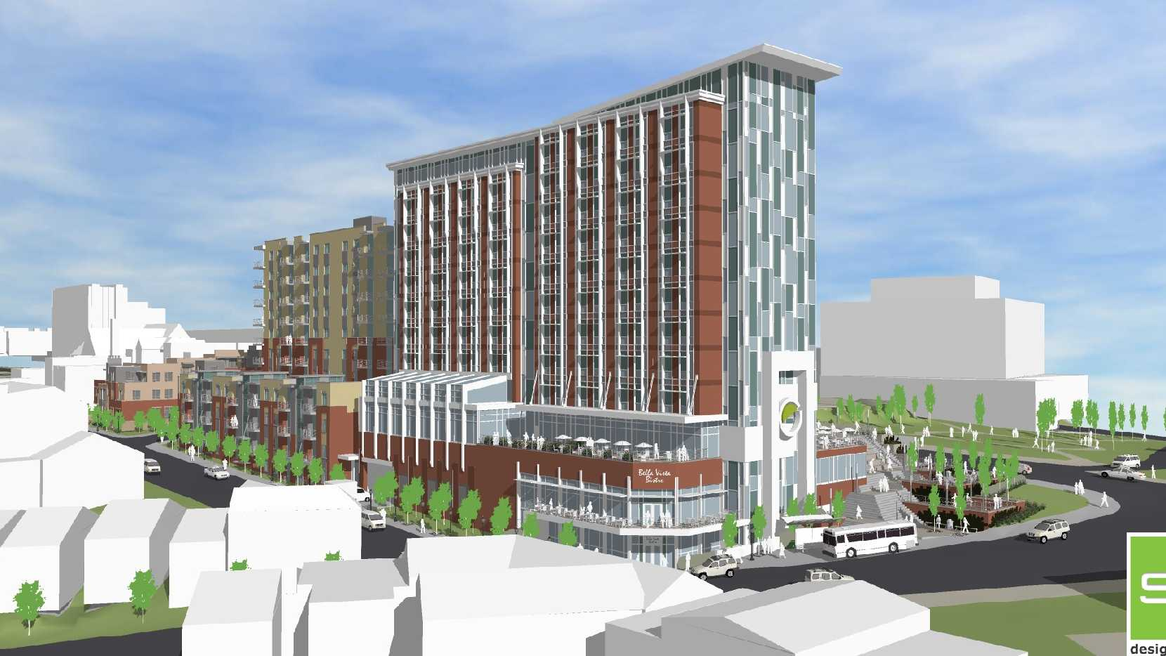 Retail, hotel, apartments and restaurant space will be part of a $75 million mixed-use development in Cincinnati's Uptown.