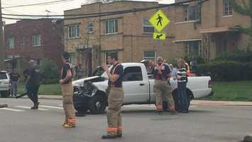 Police have responded to a 4-car crash on Westwood Northern Boulevard in Cincinnati.