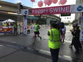 Half marathon male winner David Bea
