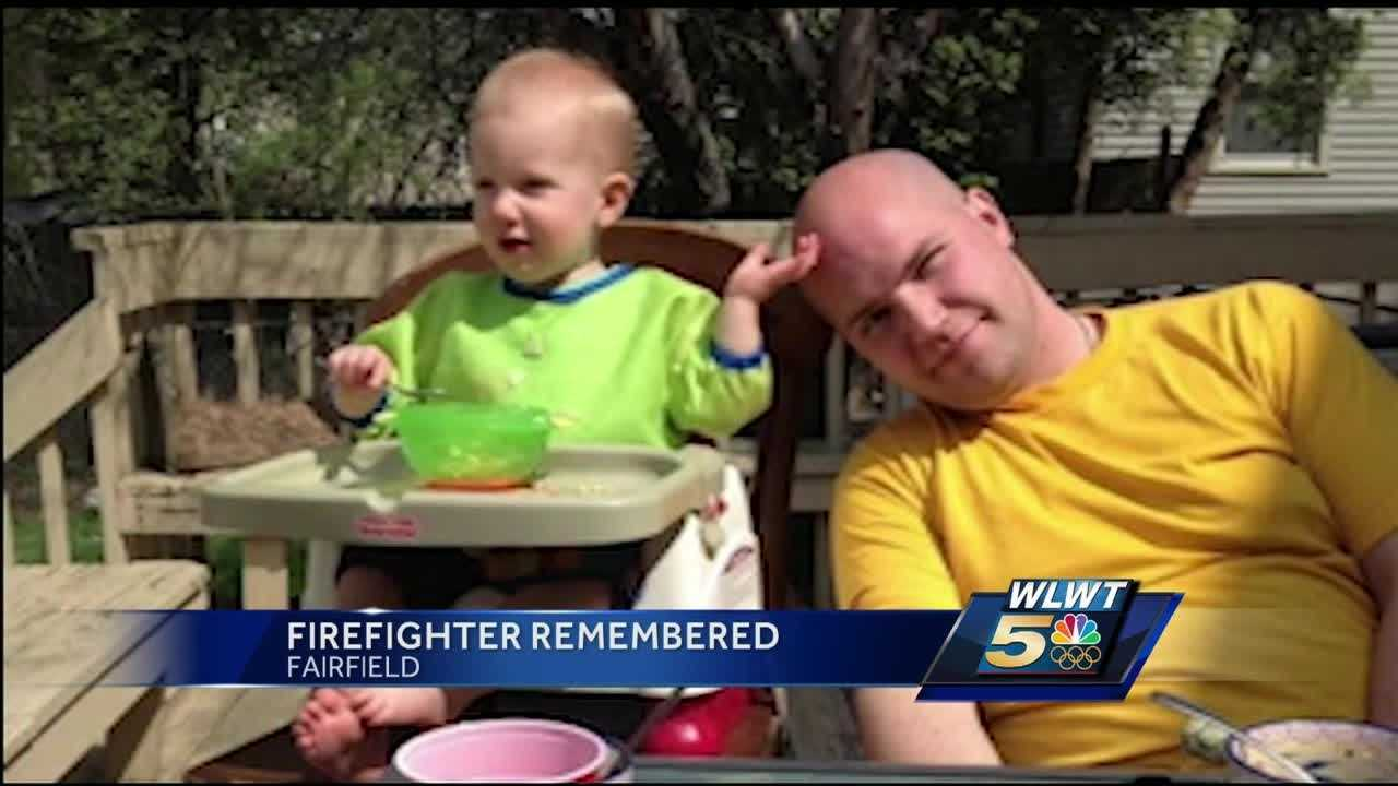 A Cincinnati firefighter killed in a Sunday morning crash was remembered as a family man with a zest for life.
