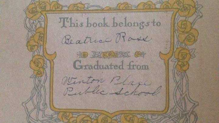 A Brown County woman is looking to return this book, titled 'The Girl Graduate,' which her father found.