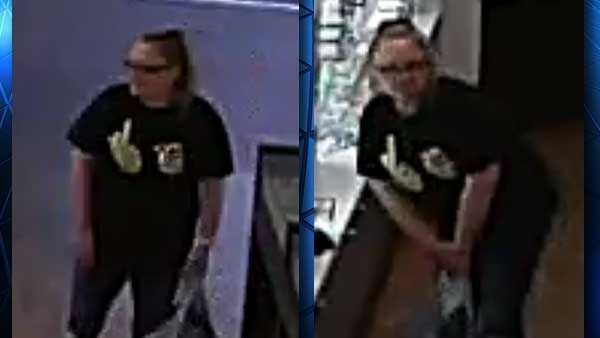 Florence police are looking for a woman they said stole three pairs of sunglasses from the Florence Mall.