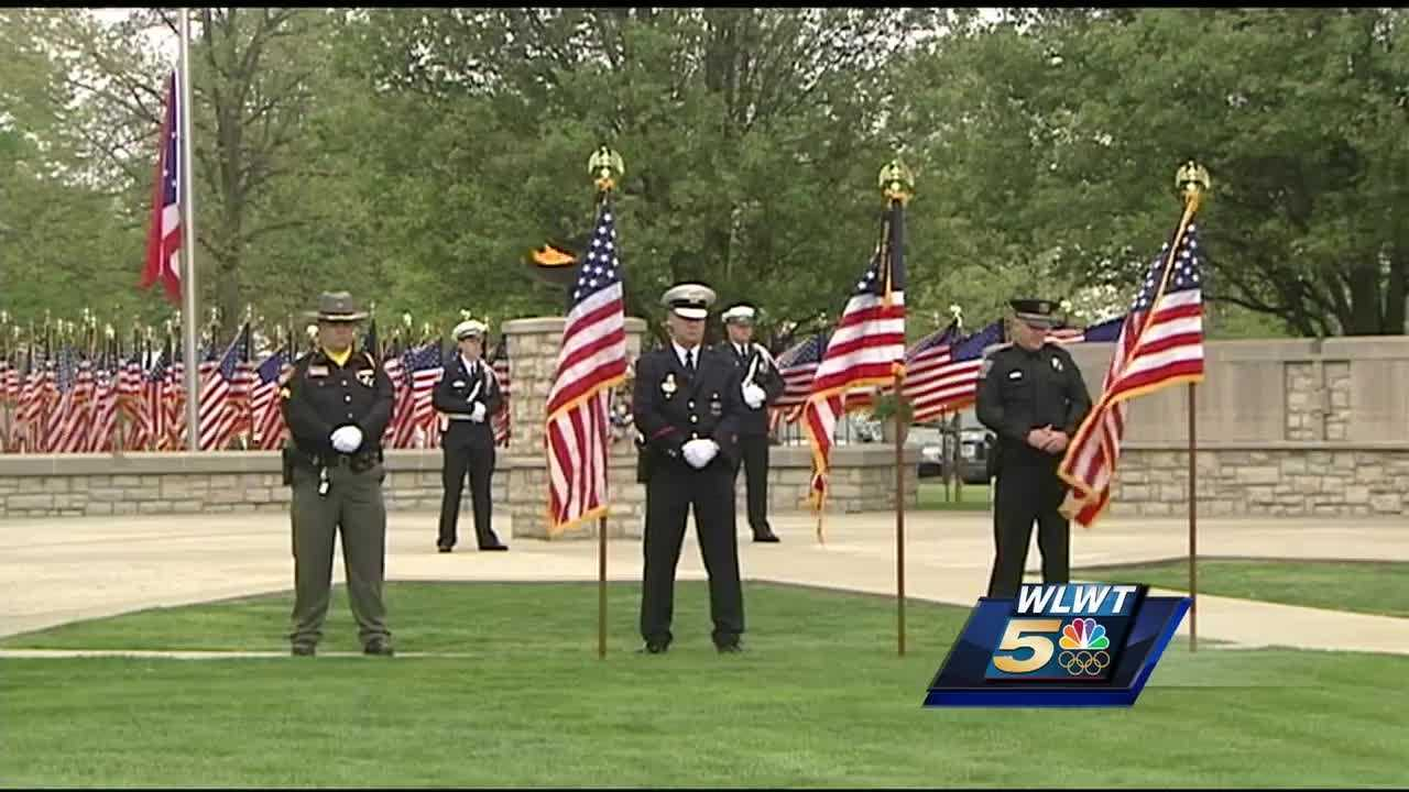 More than 700 Ohio peace officers who have died in the line of duty since 1823, including a Cincinnati police officer killed last year,are being honored at a ceremony in western Ohio.